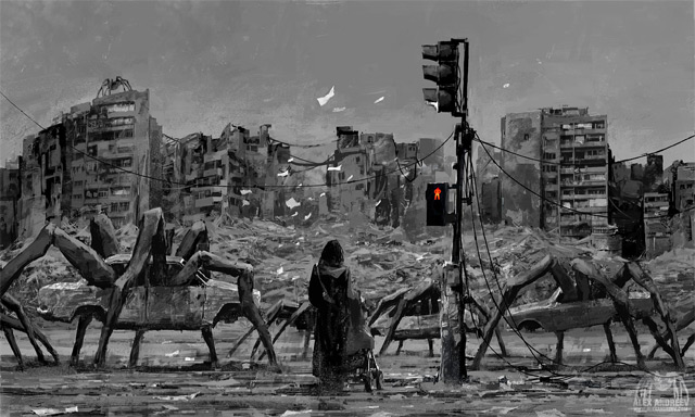 Dystopian art by Alex Andreev